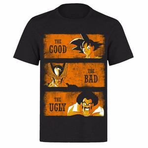 THE GOOD THE BAD AND GOKU UNISEX BLACK CLASSIC GAMERS PH9 T-SHIRT Print T-Shirt Mens Short Tee Shirt Homme Tshirt Men Funny