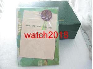مصنع مع 2021 محفظة الأخضر مربع مورد b boxescases ساعة اليد ووتش مربع الأوراق الفاخرة صندوق خشبي الأصلي. eagfg