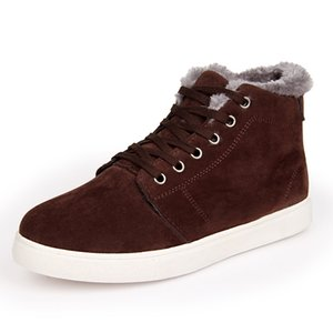 Fashion Winter Fur Warm Flock Boots Male Casual Shoes For Men Adult Sneakers Footwear Simple Ankle Boots