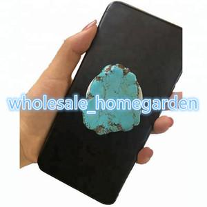 2018 Chaude Épaisse Turquoise Pierre Titulaire De Téléphone Portable Stand De Marbre pour Téléphone Portable Grip Glitter Téléphone Grips Titulaire