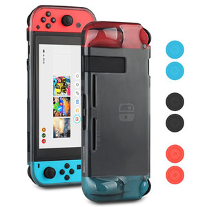 Switch Case, TPU Anti-Scratch Back Case Funda para Switch Accesorios ergonómicos Skin With Joy-Con Thumb Grips