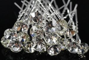 200 pcs Nupcial Do Casamento Prom Limpar Diamante Grampos de Cabelo Jóias de Cabelo de Cristal Brilhante Ganchos de Cabelo Jóias Livre