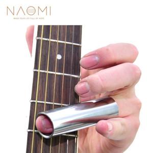 NAOMI Guitarra Cromada Deslizamento de Bloqueio Blues Blues Altamente Elétrica Guitarra Elétrica Slide-046B Peças de Guitarra Acessórios Novo