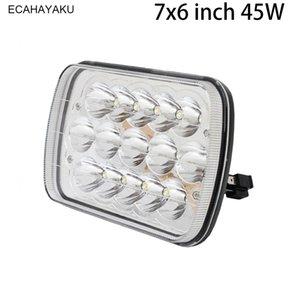 ECAHAYAKU 45 W 7 Polegadas Quadradas Luzes de Trabalho Alto / Baixo Feixe LED Lâmpadas Lâmpada do Farol Para TJ CJ Trator Caminhão 4x4 luz de condução