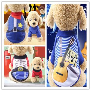 Vêtements de chien de cow-boy occidental vêtements pour animaux de compagnie chat printemps et automne et hiver jambes polaire chaud boxeur professionnel guitariste uniforme nouveau