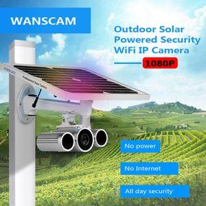 WANSCAM HD 1080P 2.0MP في الهواء الطلق تعمل بالطاقة الشمسية الأمن كاميرا IP IP66 للماء دعم الأشعة تحت الحمراء للرؤية الليلية كشف الحركة