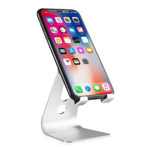 Alluminio portatile desktop mobile Cell Phone Holder Tablet Display Stand per iPhone 7 8 X 8 più
