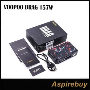 Voopoo Drag 157W Box Mod Resina Marco negro Edición Velocidad de disparo más rápida Potente módulo PWM y MOS TC Box MOD Potencia por 2 18650 100% original