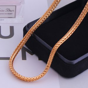 Copper Charm Chain Geometry Men's Necklace chain Rose Gold Color