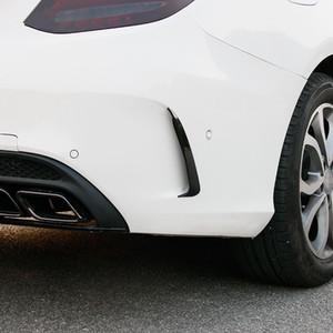 Corps arrière latéral voiture Garniture Autocollants Splitter Aileron Couteau Air Décoration pour Mercedes Benz Classe C W205 180 200 Accessoires Auto
