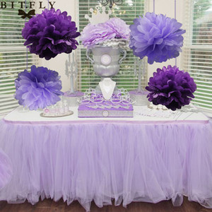 20cm Pom Doku Kağıt Pom Poms Yapay Çiçek Toplar Düğün Dekorasyon Kağıt Toplar Parti Dekorasyon Malzemeleri 40pcs / lot