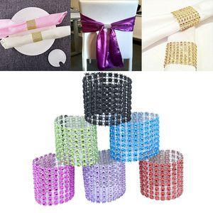 Nueva Shiny Gold Silver Napkin Rings Hotel Wedding suministros de Navidad anillos de servilleta Gold Party Decoración de mesa Servilleta Anillo de tela WX9-419