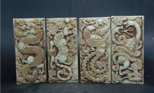 Altes Jade Buch chinesisches Tier vier (Dragon White Tiger Phoenix Dragon Schildkröte)