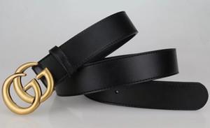 Top-Qualität Glatte Buckle Designer G ** CI-echtes Leder-Männer-Frauen-Gurt Marke Breitrind großes Logo Italien Buckle Rivet Gürtel für Männer Ceintur