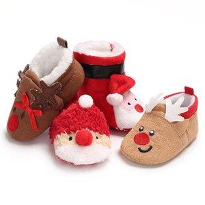 4 개 패턴 아기 부츠 겨울 따뜻한 소프트 Copodenieve 바닥 아기 눈 부츠 신생아 Prewalker 운동화 유아 크리스마스 선물