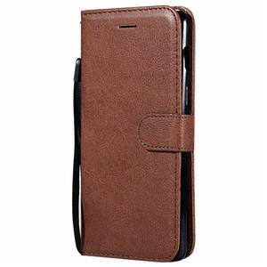 지갑 케이스 OnePlus 6 1 + 6 플립 백 커버 퓨어 컬러 PU 가죽 핸드폰 가방 코크 Fundas for Oneplus 6