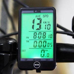 Mejor valorado SD - 576A Modo de luz para computadora de bicicleta impermeable Toque con conexión de cable Ordenador de bicicleta Ciclómetro Velocímetro con retroiluminación de LCD
