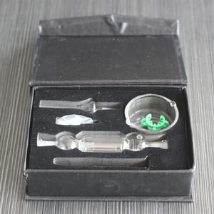Hot Mini Nectar Collector Kit 10mm Nector Collectors Dab Straw 21cm Lunghezza Oil Rigs Micro NC Kit Tubo dell'acqua per vetro Titanio Punta NC01
