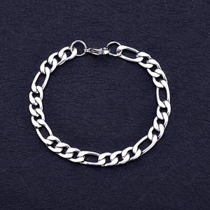 Commercio all'ingrosso 6 MM 8 MM 10 MM 316L In Acciaio Inox 3: 1 Fegalo Braccialetto Chain Moda Fresco Partito degli uomini Lunghezza Dei Monili 20 CM Spedizione Gratuita