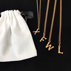 Vintage Copper Gold 26 PCS Mini Alphabet Letter Charm Pendant With Short Chain Necklace For Women Jewelry