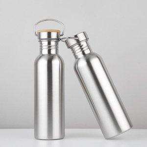 Творческий открытый спорт Кубок металлические бутылки из нержавеющей стали воды высокая термостойкость портативный ручка дизайн стакан прочный 12jb3 BB