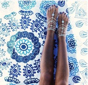 Sandalias Descalzas Estiramiento de la Cadena para Tobillera con Toe Anillo Esclavo Tobilleras Retaile Cadena Sandbeach Boda Novia Dama de honor Joyería