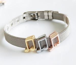 10PCS Colore misto Note musicali Slider Charms Perline Misura 8mm Nome collare Cinture Braccialetti braccialetti