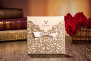 1 pc Convites de Casamento de Corte A Laser Cartões de Amostra de Luxo Baratos Chinês Personalizado Envelope Amostra link