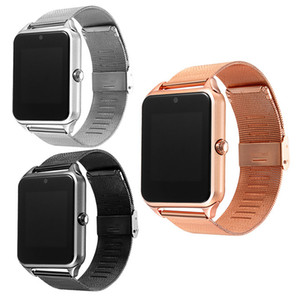 Bluetooth Smart Watch Phone Z60 Stainless Steel Support SIM TF Card Camera Fitness Tracker GT08 DZ09 Smartwatch for IOS Android Cell phone