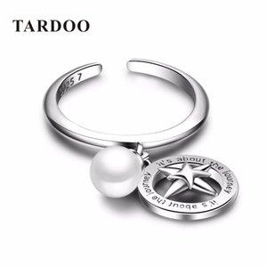 Tardoo инновационный романтический манжеты открыть стерлингового серебра 925 любовник кольца для женщин жемчуг значок подвески ювелирные изделия Y18102610