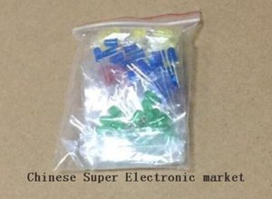 1000PCS 3MM LED Assortiment Kit, Ultra lumineux, Vert Jaune Bleu Blanc Rouge, Diode électroluminescente chaque 200pcs