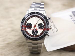 5 стиль горячие продать модные часы 37 мм Вечный Винтаж Пол Ньюман 6263 нержавеющая сталь VK кварцевые хронограф мужские наручные часы Рождество