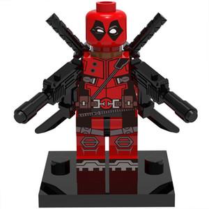 Deadpool 30 قطعة / الوحدة مارفل سوبر هيروز الشكل كتل بناء مجموعات نموذج اللعب المنتقمون البسيطة أرقام اللعب