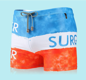 Pocket Inside Swimsuits Mens Sexy Swimwear Swimming Boxer Shorts Trunks Tamaño grande Hombres Swim Surf Board Shorts Gay Penis Pouch Pad