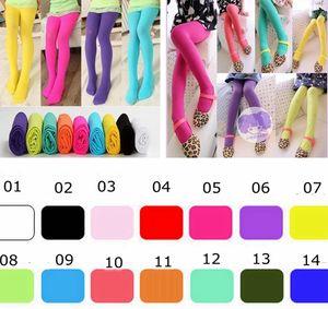 INS 걸스 레깅스 타이츠 스키니 팬츠 아동복 패션 캔디 컬러 레깅스 롱 바지 키즈 캐주얼 바지 Girls Tights 14colors