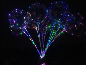 스틱 판매와 LED 점멸 풍선 야간 조명 보보 공 여러 가지 빛깔의 장식 풍선 웨딩 장식 밝은 라이터 풍선