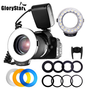 18pcs LED SMD Macro Ring Flash Light para Pentax Canon Nikon Sony Olympus Panasonic Speedlite Display LCD CRI 90 RF-600D