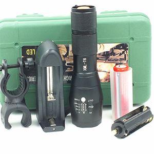 Portable 5000Lumens Ultra Bright - Lampe de poche tactique CREE XML T6 LED 5 modes + batterie 18650 + chargeur + kit