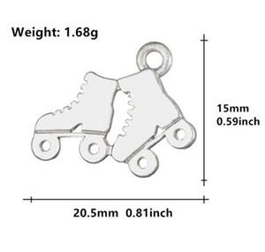 Novos patins esportivos Sapatos charme ice skate esporte pingentes jóias pulseiras colar fazendo steampunk diy