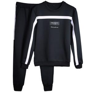 Eşofman Erkekler Kış Sıcak Satış Eşofman Set Katı Ter Suit Erkekler Eşofman Seti Set Ceket + Pantolon Dış Giyim Sportssuit Ceket Ve Sweatpant