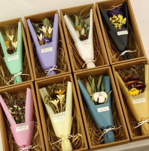 Mini bouquet de fleurs sèches simples Emballage de coffrets cadeaux Bouquet de la Saint-Valentin Bouquets de noces de fleurs séchées