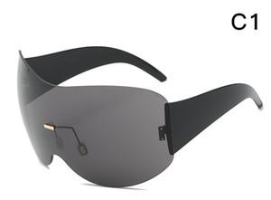 Occhiali da sole HOT Rimless Occhiali da moda HD Occhiale da sole con scatola grande occhiali congiunti Occhiali anti UV UV400