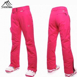 Wholesale- Saenshing Winter ski pant female waterproof ski trousers women super warm snow skiing pants breathable outdoor snowboard trouser