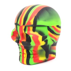 High Quality 500ml Skull Shape Silicone dab Container Box Non Stick silicone Jars For Dabber Wax storage jar Vaporizer