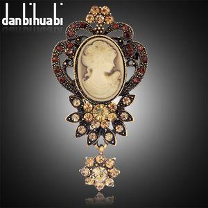 danbihuabi 2017 NOUVEAU Vintage Brooch pins Elegant Beauty broche bijoux mode strass broches pour femmes marque danbihuabi