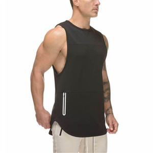 Mens Extended Scoop Workout Tank Tops Gym Shirts para hombres gimnasio transpirable de algodón elástico de secado rápido stretch wicking tank top