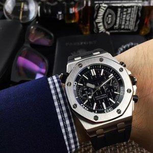 2018 Marca de Luxo Mens Relógios Profissionais Cinta De Couro Bandas Comprar 41mm Movimento Automático Mens Watch Relógios