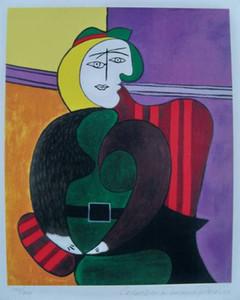 """Enmarcado, envío gratis, """"Pablo Picasso"""" Pintura al óleo pintada a mano sobre lienzo grueso Decoración de pared Tamaño múltiple, Fr202 #"""