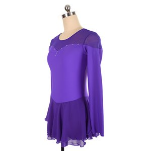 Competitive Price Formal Full Sleeve Ice Competition Dress Girls Fashion Latest Style Children Dress Short Length