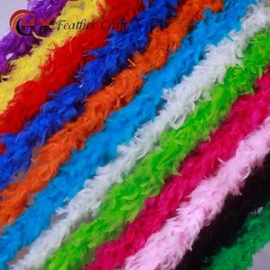 Plumas de Turquía Strip String Boa Glam Bouquet Embalaje DIY Plume Wrap Material Birthday Wedding Party Decoraciones Muchos colores 5xx ZZ